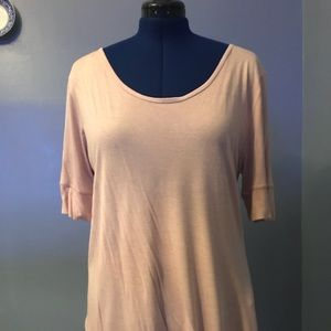 Size large, pink, long fit, blouse